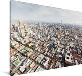 Een luchtfoto van de Zuid-Afrikaanse stad Johannesburg Canvas 180x120 cm - Foto print op Canvas schilderij (Wanddecoratie woonkamer / slaapkamer) XXL / Groot formaat!