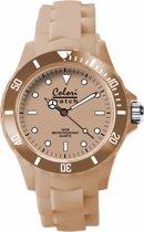 Colori Classic 5 COL147 Horloge - Siliconen Band - Ø 40 mm - Beige
