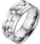 Mendes Jewelry heren ring Edelstaal Tandwiel-21mm