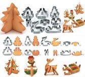 JDBOS Handig en mooi uitsteekvormpjes Kerst - 8-delige set