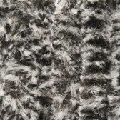 Deur-Vliegengordijnen Kattenstaart 120x240cm Zwart /Wit gemeleerd