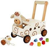 I'm Toy Loop/duwwagen Schaap met blokken