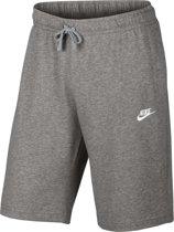 Nike Sportswear Club Short Jersey Sportshort Heren - Dark Grey Heather/White
