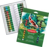 Derwent Acrylverf Academy tubes 12ml  24 stuks verschillende kleuren