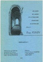 Mélanges de langue et littérature françaises du Moyen Âge offerts à Pierre Jonin