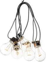 Konstsmide 2378 - Snoerverlichting - 10 lamps transp 80 LED zeer energiezuinig - 450 cm - 24V - voor buiten - extra warmwit