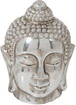 Boeddha Beeld Hoofd Zilver 28 cm