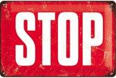 STOP  Metalen wandbord 20x30 cm