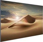 Zandduinen in een woestijn Aluminium 90x60 cm - Foto print op Aluminium (metaal wanddecoratie)