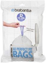 Brabantia Perfect Fit Afvalzakken - 15/20 l - Code D - 40 stuks