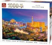 King Puzzel 1000 Stukjes (68 x 49 cm) - Las Vegas Strip - Legpuzzel Steden - Volwassenen