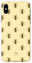 Fashionthings Bee inspired iPhone X/XS Hoesje / Cover - Eco-friendly - Softcase