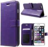 Cyclone portemonnee case wallet Hoesje iPhone 6 paars