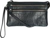 LouLou Essentiels Handtassen Pouch Vintage Croco Zwart