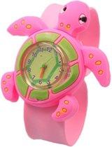 Fako Bijoux® - Kinderhorloge - Slap On Mini - Schildpad - Roze