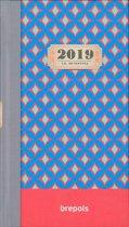 Brepols agenda 2019- Interplan - Vintage - Rood - 7d/2p - 6talig - 9,5 x 16,5 cm