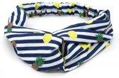 Haarband met strepen, ananassen en citroenen