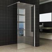 Inloopdouche Miami 100x200cm Antikalk Helder Glas RVS Profiel 10mm Veiligheidsglas Easy Clean