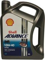 SHELL ADVANCE 4T ULTRA 10W40 4L