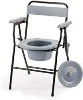 Inklapbare toiletstoel / Opvouwbare postoel. Compact en lichtgewicht