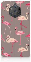 Nokia 9 PureView Uniek Standcase Hoesje Flamingo