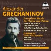 Grechaninov: Compl. Music Viola+Piano