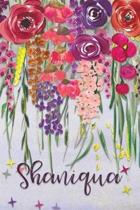 Shaniqua: Personalized Lined Journal - Colorful Floral Waterfall (Customized Name Gifts)