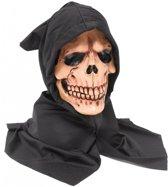 Halloween Schedel masker met zwarte kap
