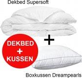 Klaas Vaak Dekbed Supersoft - 240x200 cm + Box Hoofdkussen