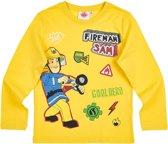 Brandweerman-Sam-T-shirt-met-lange-mouw-geel - Maat 128
