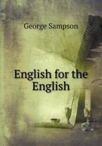 English for the English