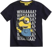 Minions-T-shirt-met-korte-mouw-marineblauw-maat-128