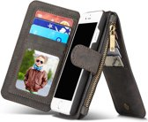 Caseme luxe portemonnee hoes iPhone 7 / 8 zwart