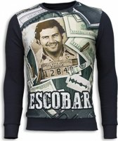 Local Fanatic Narcos Pablo Escobar - Sweater - Donker Grijs - Maten: M