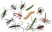 12x Plastic enge halloween beestjes insecten - halloween/insecten/decoratie
