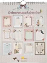 6PA0195D - Verjaardagskalender - 21 x 28 cm - papier - multi