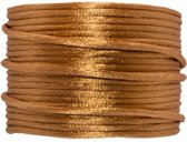 Satijnkoord (2 mm) Fudge (15 Meter)