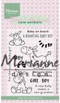 Marianne Design Stempel Elines zebra & donkey EC0170