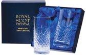 Royal Scot Crystal - London 2 Tall Tumblers Presentation Boxed