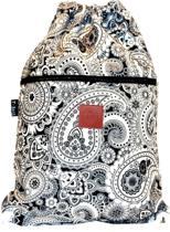 Rugtas Artic| T-Bags | 100% Katoen | 14 Liter | Zwart & Wit | Comfortabel
