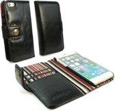 Alston Craig Echt Leren Portemonnee Hoesje voor de Apple iPhone 7 en iPhone 8 - Zwart