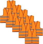Veiligheidshesje - Veiligheidsvest - Volwassene - Oranje - 10 stuks