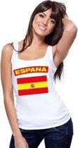 Singlet shirt/ tanktop Spaanse vlag wit dames M