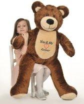 Grote teddebeer / knuffelbeer 110cm - I love you - Bruin