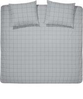 Damai Dekbedovertrekset flanel 200 x 200/220 cm bar grey