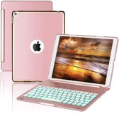 iPad Pro 10.5 Toetsenbord hoesje - CaseBoutique Bluetooth Keyboard Case - Rose Goud - Aluminium