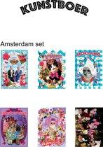 2 x kaartensetje 6 st. Amsterdam/Holland