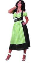 4d4ae61573c bol.com | Lange dirndl met schort en blouse in rood/zwart ...
