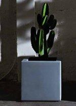 Bloembak Fenice Cube 65 Modular - Double Wall - 65cm Licht grijs