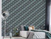 Fotobehang Black And White Pattern | VEXXXL - 416cm x 254cm | 130gr/m2 Vlies